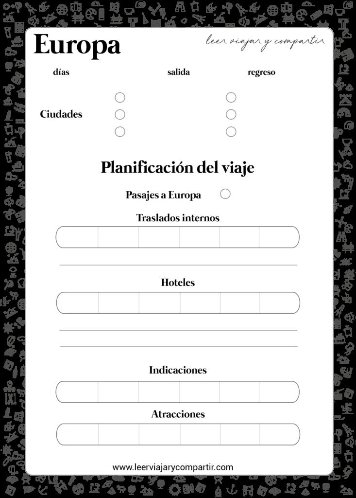 Organizacion de viaje a Europa