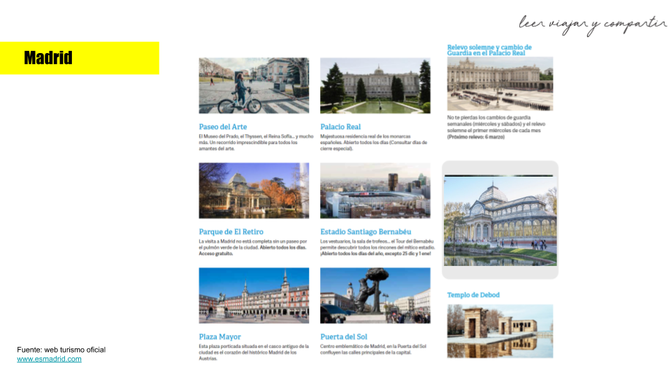 Lugares para visitar en Madrid - España